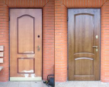 Реставрация дверей из шпона