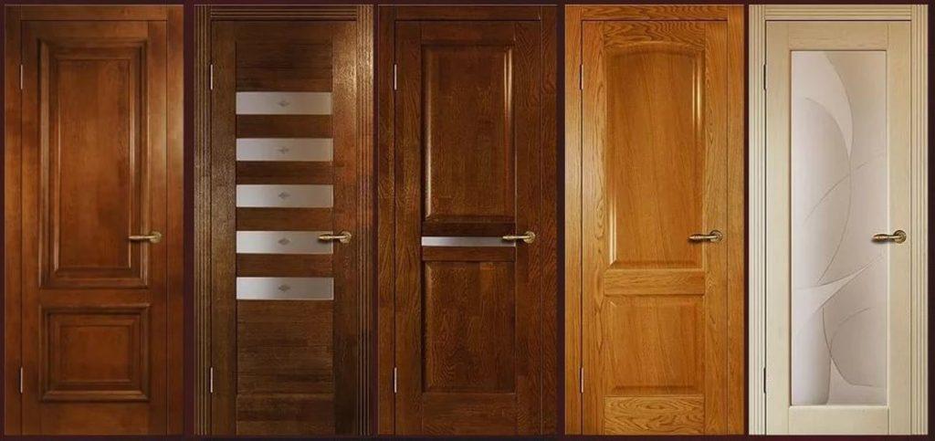 Породы межкомнатных дверей из массива дерева и их свойства