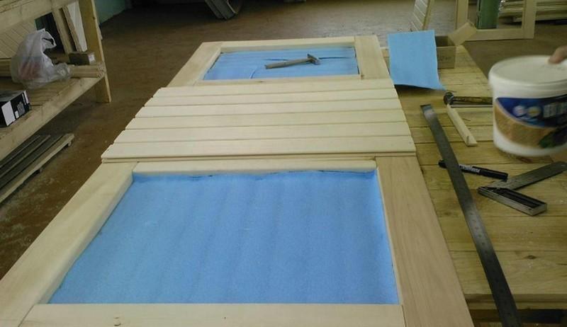 Изготовление двери из вагонки своими руками