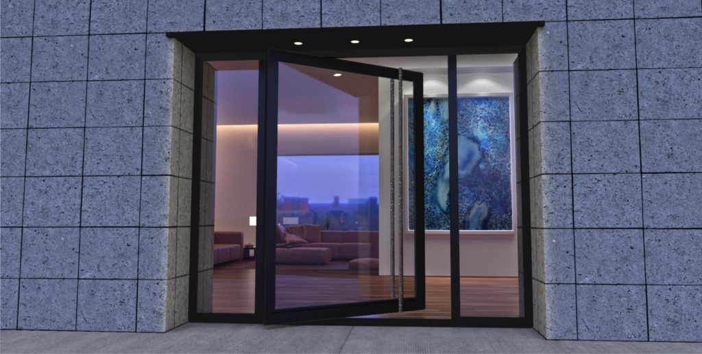 Стеклянная входная дверь - особенности для дома