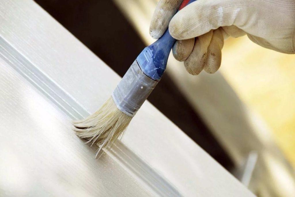 Как покрасить ламинированные двери