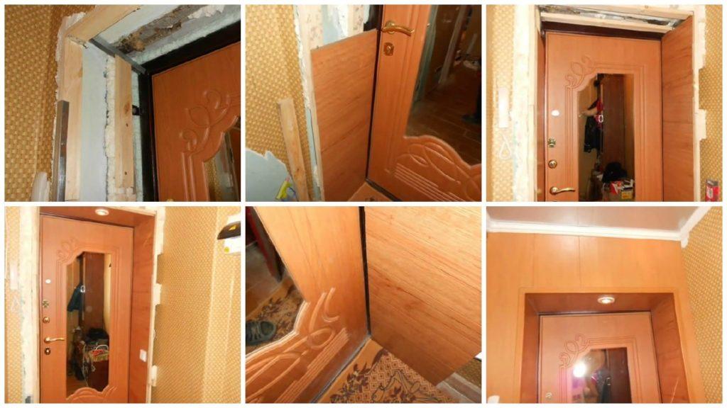 Откосы из ламината на входные двери