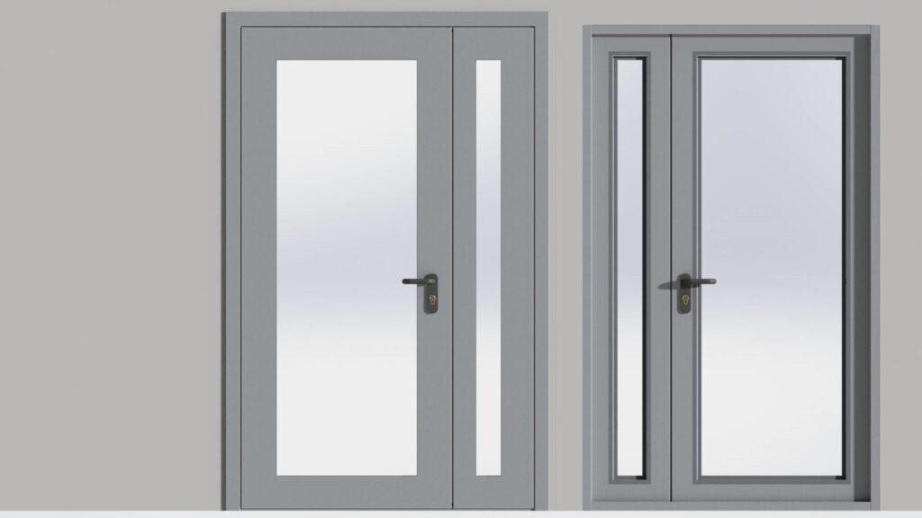 Двери противопожарная двупольная